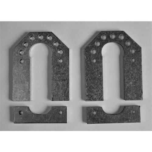 "A FRAME MOUNT- 1-1/4"" C Plates (PAIR)"