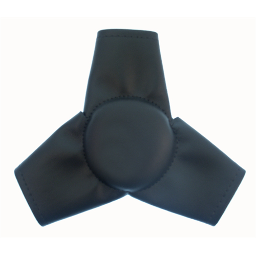 CENTER STEERING PAD SPRINT/MIDGET BLACK VINYL