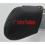 "COVER -  SHOULDER RESTRAINT PAD 1"" - 88/89 SERIES - BLACK TWEED"